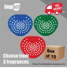 More details for urinal mat screen washroom toilet - 3 fragrances deodoriser - pack of 10