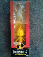 Incredibles 2 Jack-Jack & Raccoon Figures. Condition is New And In Box.
