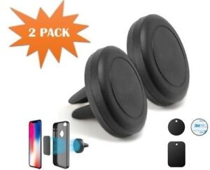Magnetic Car Mount Air Vent Stand GPS CellPhone Holder For Apple Phones 2 Pack
