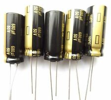 680uf 50v 105c panasonic EEUFM 1H681L low esr 12.5mmx30mm très long life x5pcs
