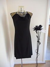 BNWT RONNI NICOLE O SO SLIM BUILT IN SHAPE BLACK PARTY DRESS SIZE 12