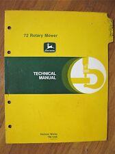 John Deere 72 rotary mower technical manual 650 750 Tractors