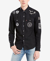Levi's Limited Men's Patched Barstow Black Western Shirt Size M