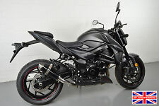 Suzuki GSX-S750 SP Engineering Satin Black Stubby Moto GP Exhaust End Can