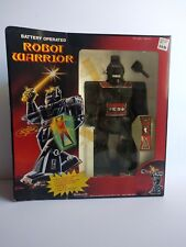 Rare Vintage New Battery Operated Robot Warrior Woolworth Hong Kong Collectible
