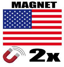2 x ETATS UNIS Drapeau Magnet 6x3 cm Aimant déco magnétique frigo