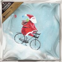 Pack of 8 Santa On A Bicycle Royal Marsden Fairdeal Charity Christmas Cards
