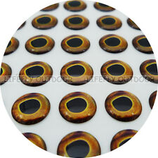 8mm Real Hard / Wholesale 300 Soft Molded 3D Holographic Fish Eyes, Fly Lure