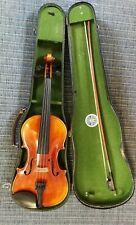 Schöne 4/4 Geige / Violine mit Bogen und Koffer, Spielbereit!