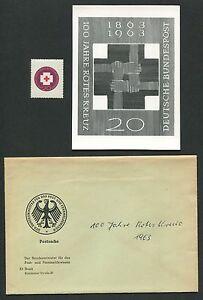 GERMANY PHOTO-ESSAY 400 ROTES KREUZ 1963 RED CROSS PROOF RARE!! e501