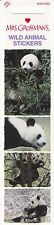 Mrs. Grossman's Wild Animal Stickers - Panda - 4 Stickers - 1 Strip - Photo Real