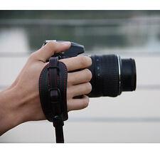 Black PU Leather Hand Wrist Strap Grip for DSLR Canon Nikon Pentax Sony Olympus