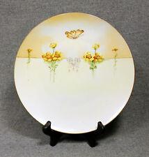 Jaeger EVERETT STUDIO Hand Painted Plate Art Deco Corn Buttercup Butterfly