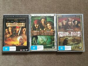 Pirates of the Carribean Dvds Region 4
