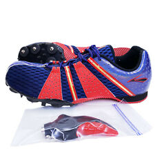 Brooks MD Surge Track & Field Spikes Mens Size 8 Cleat Shoes Blue Red Athletic