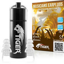 More details for tiger pro musicians filter earplugs noise cancelling hearing protection