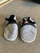 Cute Mothercare Next Newborn Grey Navy Shoes.