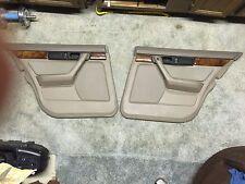 BMW E34 door cards panels set of 4, Parchment Tan woograin leather armrests