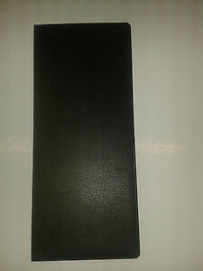Lottery ticket holder new type + board black leather look(horizontal pock)