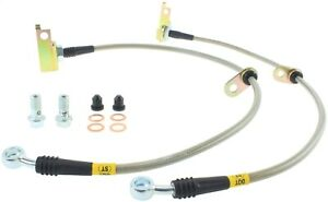 Fits 09-15 CR-Z Fit: Stainless Steel Braided Brake Hose Kit StopTech 950.40018