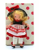 VIntage Nancy Ann Storybook Bisque Doll To Market Pudgy Tummy Articulated Legs