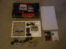 Super Nintendo SNES Set Console System Box Super Mario World #E1