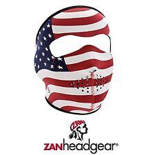 Zan Headgear Neoprene Full Face Mask Stars And Strips Patriotic USA America