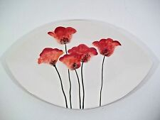 """Fitz & Floyd """"Poppies"""" Oblong Platter/Tray - 16"""" X 10"""" Retired Classic Piece!"""