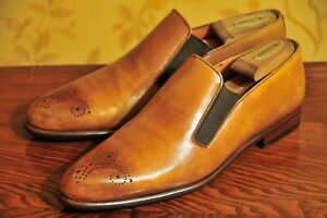Santoni Made in Italy Tan Loafers US10/UK9 /Carmina