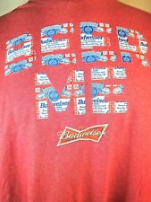 XL Budweiser BEER ME Spellout Can Logo Graphic T-Shirt