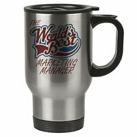 The Worlds Best Marketing Manager Thermal Eco Travel Mug - Stainless Steel