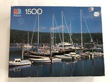 "MB YORK 1500 Piece Puzzle COMPLETE ""Northeast Harbor, Maine"
