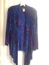 A Touch Of Class Clothing Multi Color Open Front Jacket In Size 2X/3X