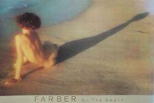 En la playa, Farber Foto, Original 1984 Afiche, 91x61cm, Vintage Desnuda Cartel