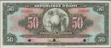 Haiti ,50 Gourdes , P 183s , L. 1919 ( 1950's ) , Not Listed as Specimen