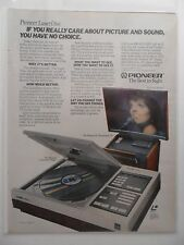 1982 Print Ad Pioneer Laser Disc Player ~ Liza Minelli You Have No Choice