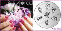 Konad Stamp Nail Art Decal Image Plate M27 FISH FRIENDS