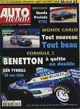 AUTO HEBDO n°1070 du 29 Janvier 1997 PARIS DAKAR HONDA PRELUDE 2.2 VTEC SAAB3000