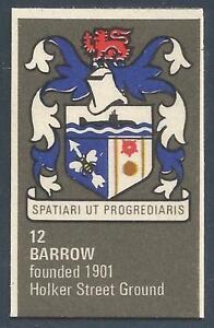 BARTHOLOMEWS 1970'S CREST #012-BARROW