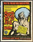 Sick of it All Korn 1995 Jermaine Rogers Tour Poster Limited Band Print Rare