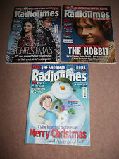 RADIO TIMES CHRISTMAS 2012 DOUBLE ISSUE WITH THE TWO PRECEDING ISSUES