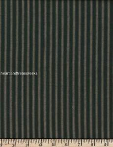 Dunroven House H-57    Black ~ Wheat Striped Homespun Fabric ~ You Pick