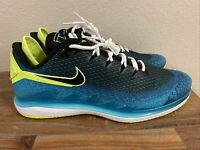 Nike Court Air Zoom Vapor X Knit Tennis Shoes Neo Blue AR0496-400 Mens size 15