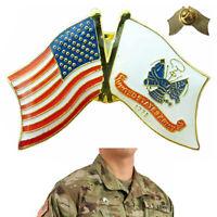 United States Army Lapel Pin Enamel US Flag Military Jacket Veteran Hat Uniform