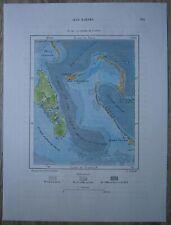 1891 Perron map TONGUE OF THE OCEAN, BAHAMAS (#181)