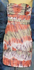 HONEY&BEAU StraplessMultiColoured100%SilkPartySz6NWoT