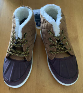 OshKosh B'Gosh Duck Boots Tarin-B Toddler Preschool Kids Brown Size 7 (MCL)