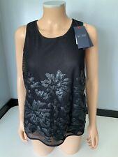 Armani Womens Top, Lace, Size 44, Uk 12, Black, New, Bnwt