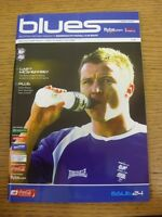 09/03/2007 Birmingham City v Derby County  (Faint Crease). Trusted sellers on eb