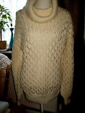 Ladies hand knitted roll neck sweater /tunic